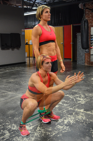 Stefani Sodl Runners Workout banded lateral step with squat