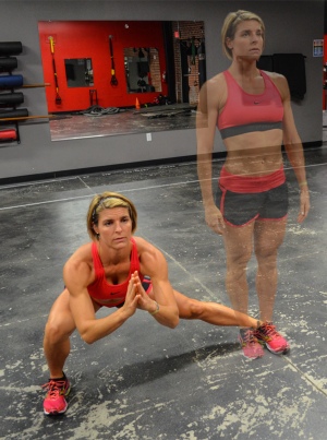 Stefani Sodl Runners lateral lunge