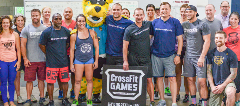 Mayor Curry after his burpees with local Crossfit affiliates.