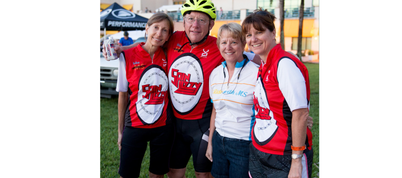 Team Spin Lizzy at Bike MS 2015 - Lizzy is pictured in the white jersey.